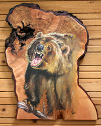 Grizzly Bear on Maple