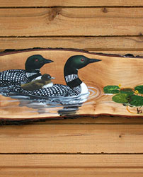 Loons & Frog on Popple